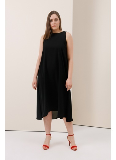 Gusto Arkası Çapraz Bağcıklı Uzun Elbise - Pembe Arkası Çapraz Bağcıklı Uzun Elbise - Pembe Siyah